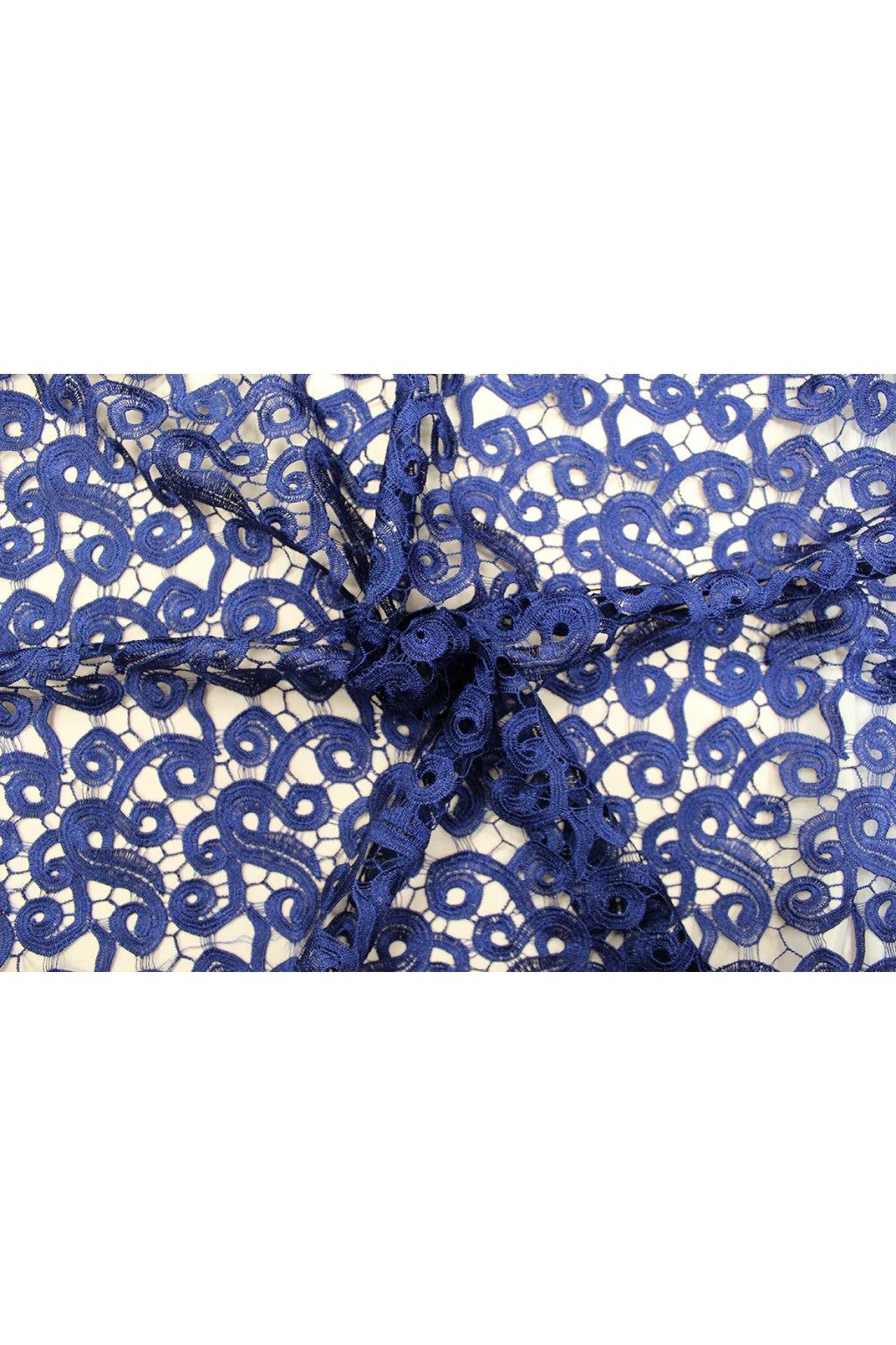 Krajka guipure - tmavě modrá