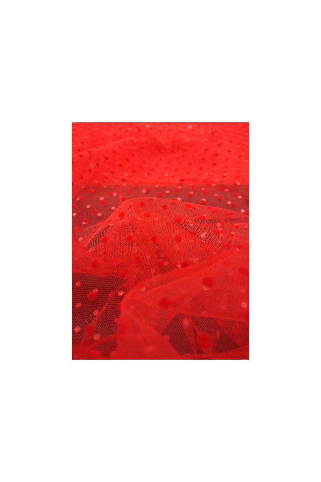 Tyl puntík flock-red