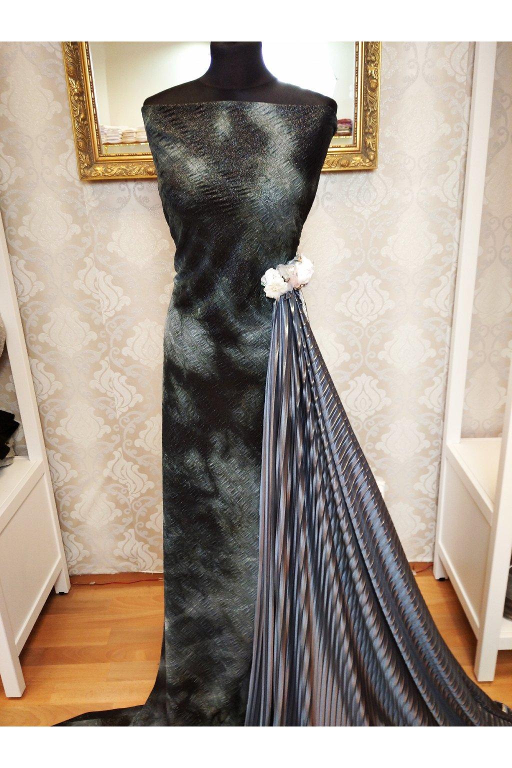 Úplet - batika - šedočerná