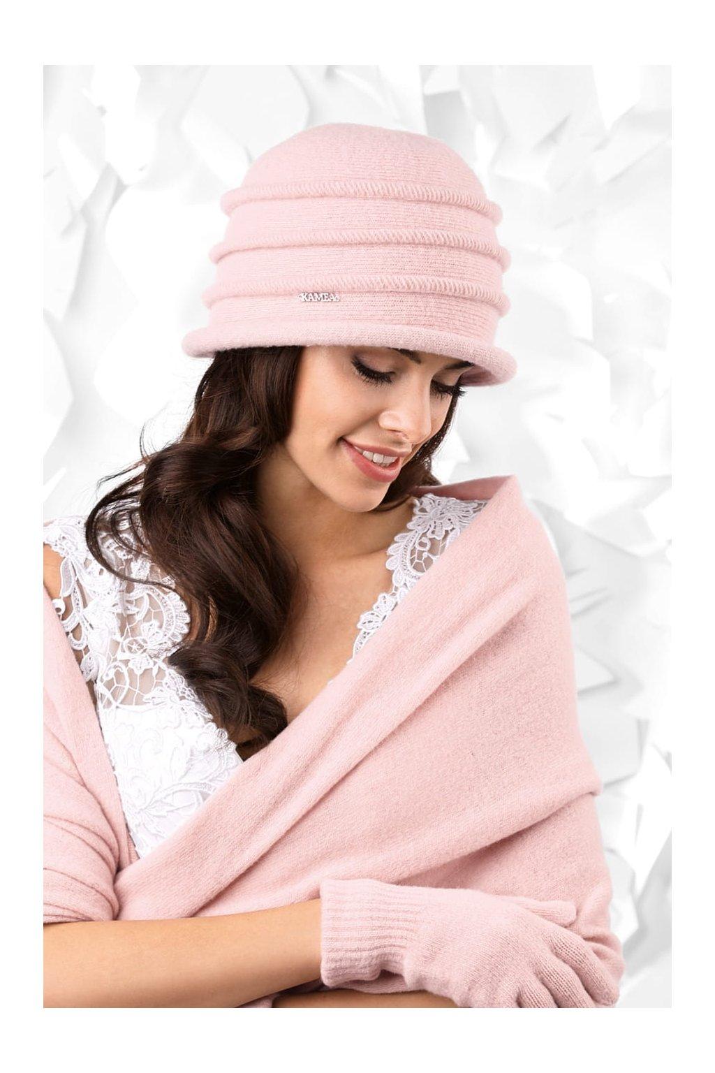 KAMEA PALERMO kapelusz damski rozowy