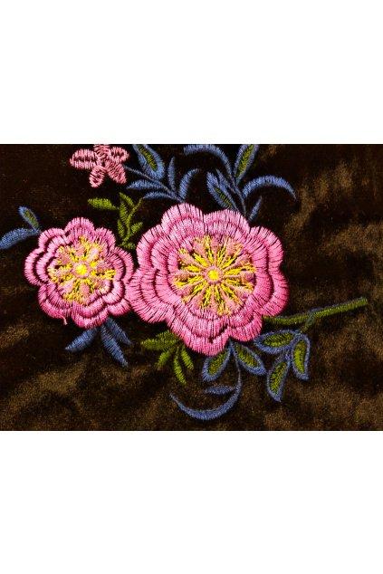 Samet lila flower