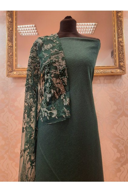 Vlna kostýmová Elvíra zelená
