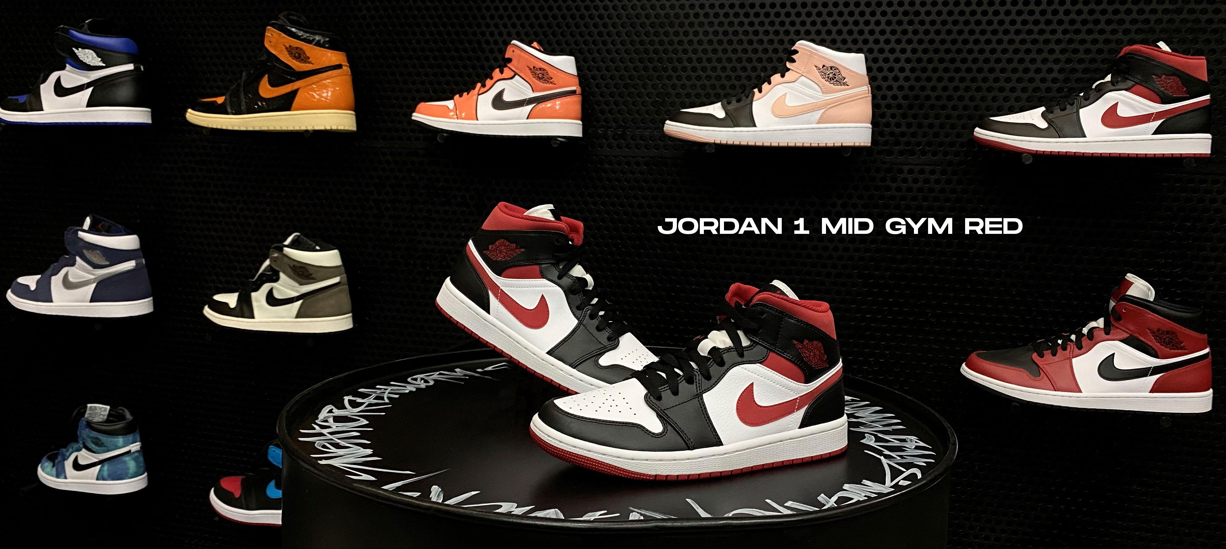 Jordan 1 Mid Gym Red