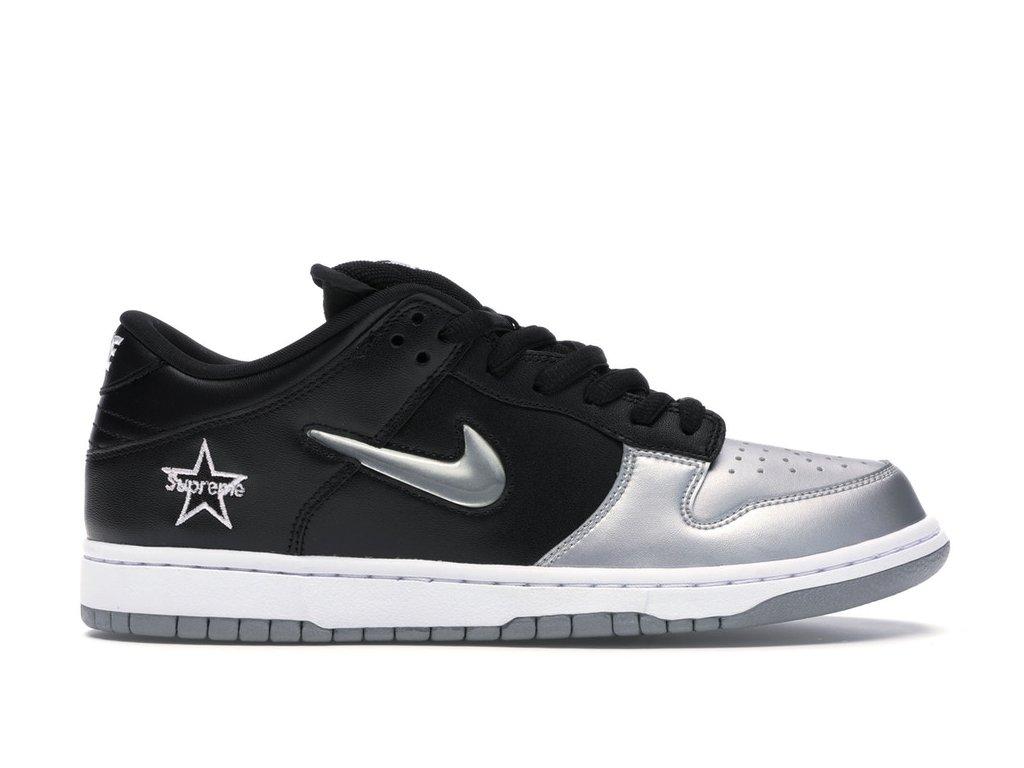Nike SB Dunk Low x Supreme Silver (Velikost 44.5)