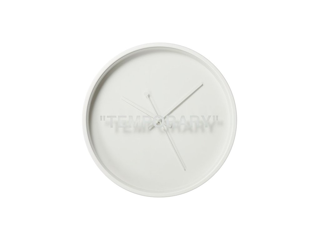 Virgil Abloh x IKEA MARKERAD TEMPORARY Wall Clock White