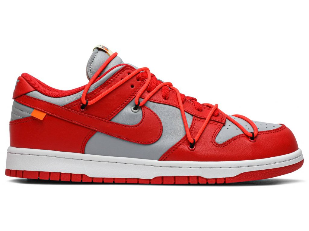 Nike SB Dunk Low Off-White University Red (Velikost 40)