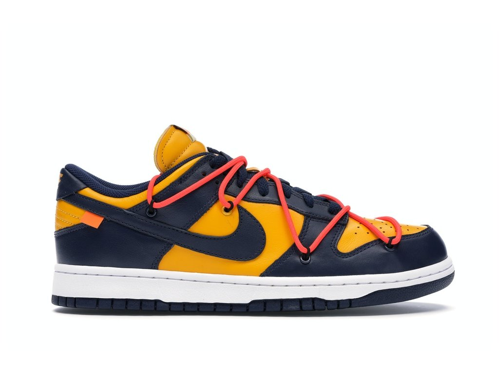 Nike SB Dunk Low Off-White Gold/Navy (Velikost 41)