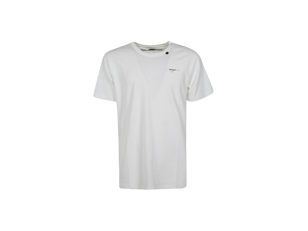 OFF WHITE Abstract Arrows Embroidered T Shirt White Black
