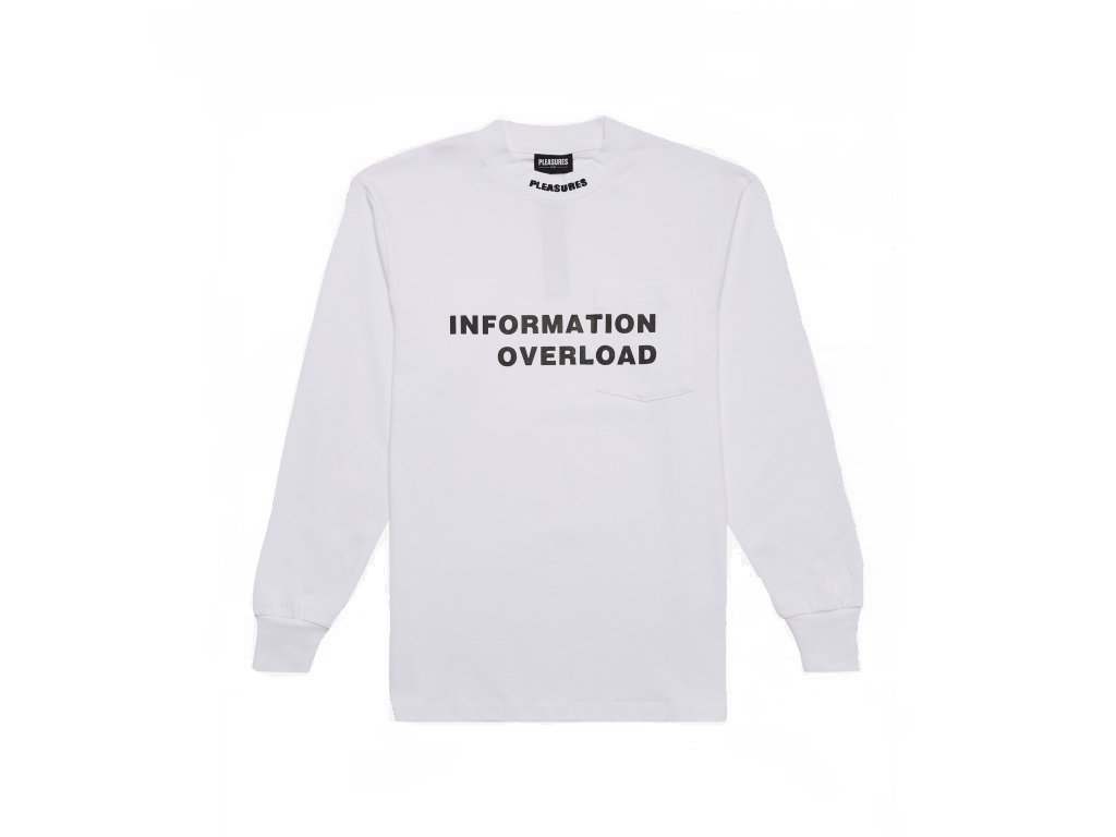 Pleasures Information Heavyweight Longsleeve Tee White (Velikost L)