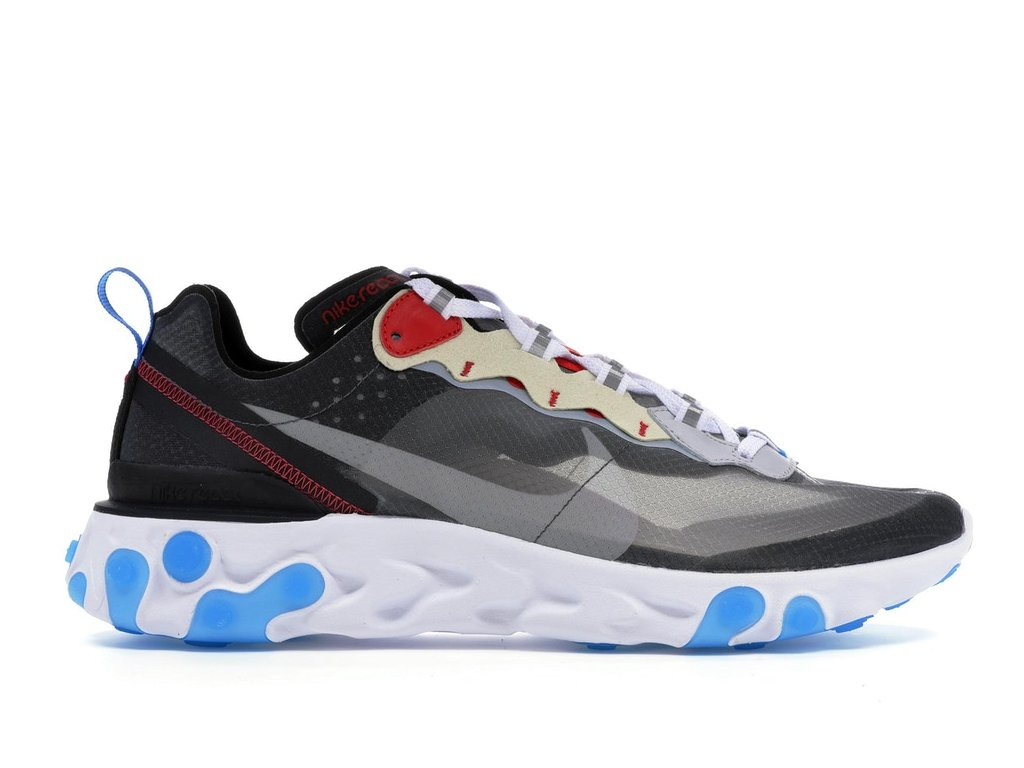 Nike React Element 87 Dark Grey/Photo Blue (Velikost 38.5)
