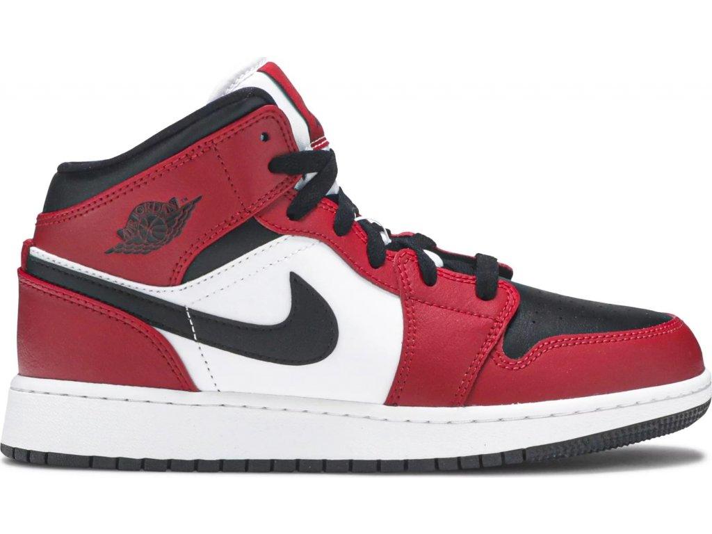 Jordan 1 Mid Chicago Black Toe (GS) (Velikost 35.5)