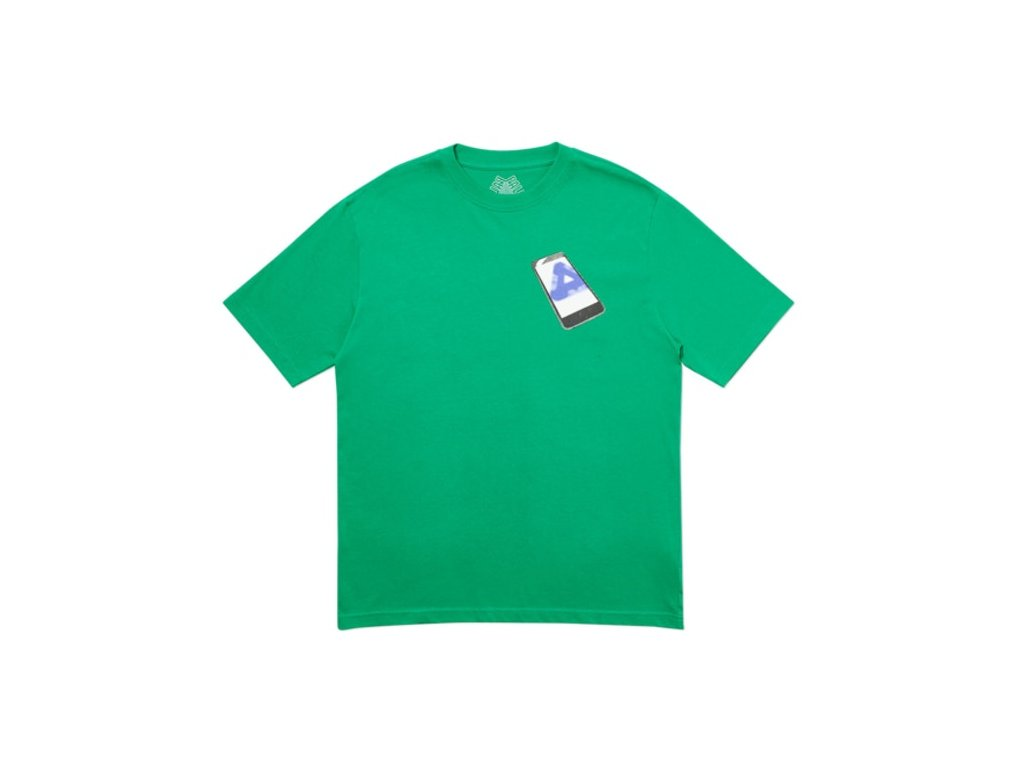 Palace Tri Phone T Shirt Green
