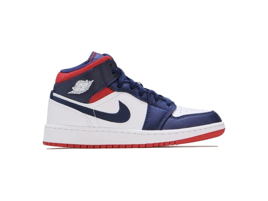 Air Jordan 1 Mid SE USA GS Thumb