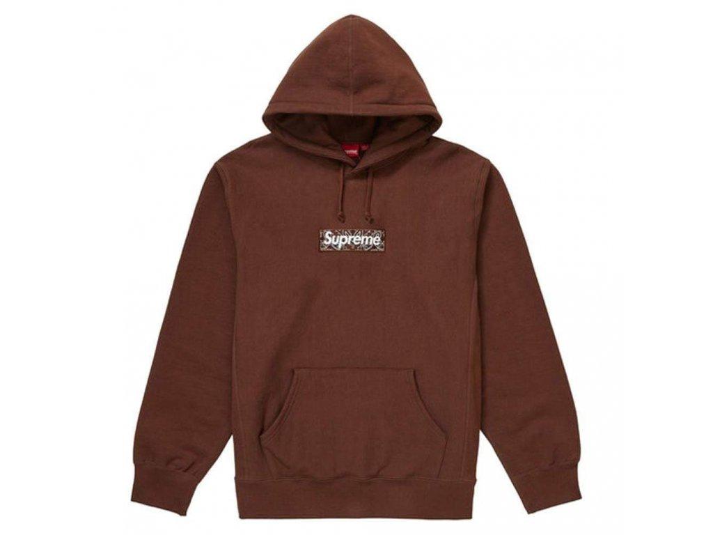 supreme bandana box logo hooded sweatshirt dark brown 1 jt5quy 1000x1000