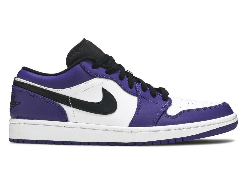 Jordan 1 Low Court Purple White (Velikost 40)