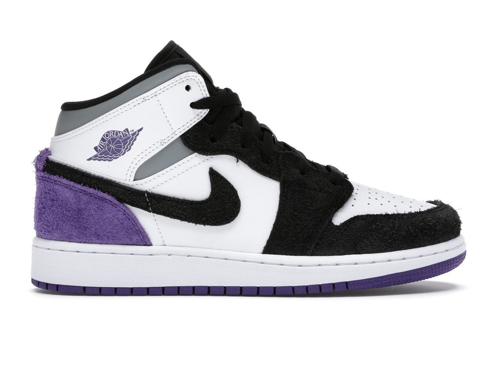 Jordan 1 Mid SE Purple (GS) (Velikost 35.5)