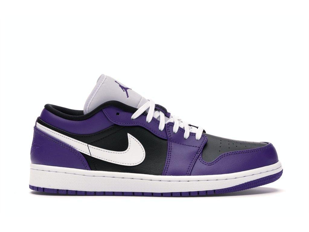 Jordan 1 Low Court Purple Black (Velikost 44)