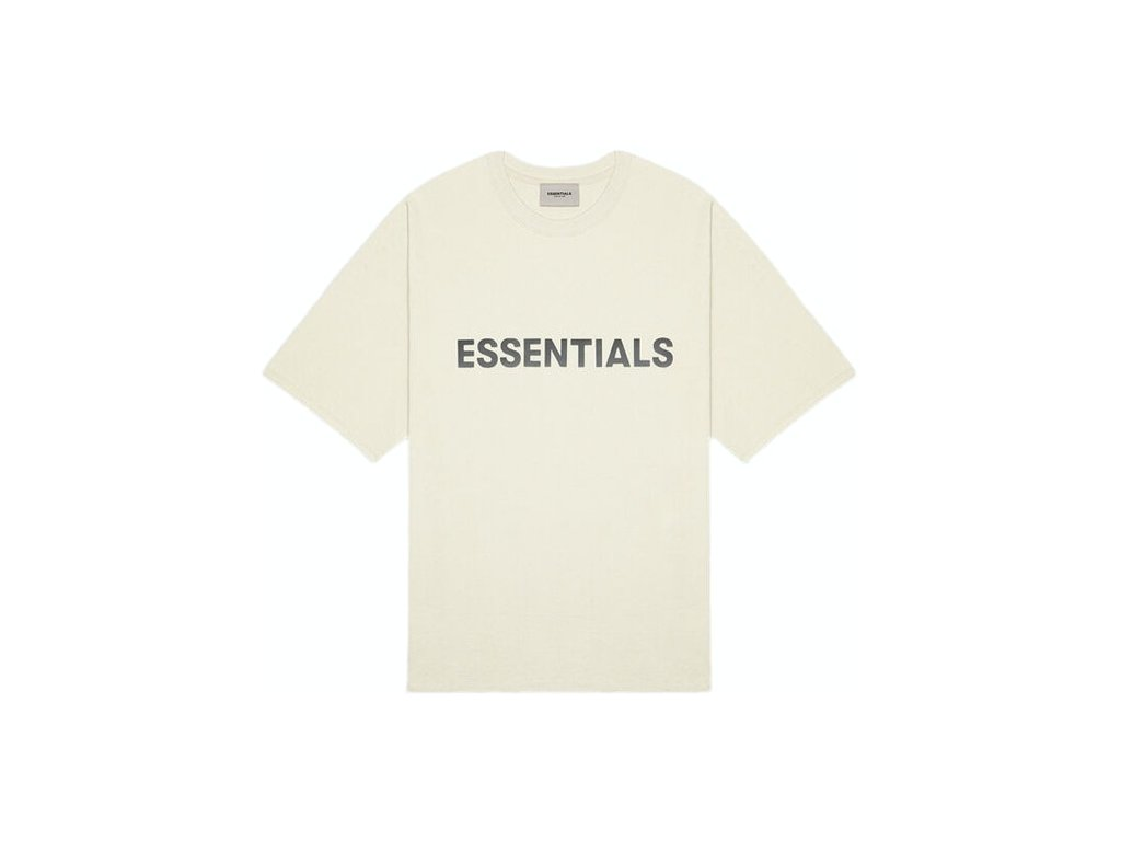 FEAR OF GOD ESSENTIALS 3D Silicon Applique Boxy T Shirt Buttercream