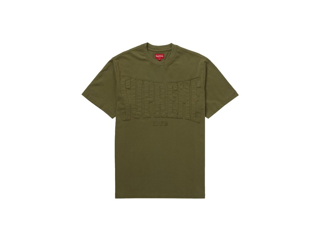 Supreme Cutout Logo S S Top Olive