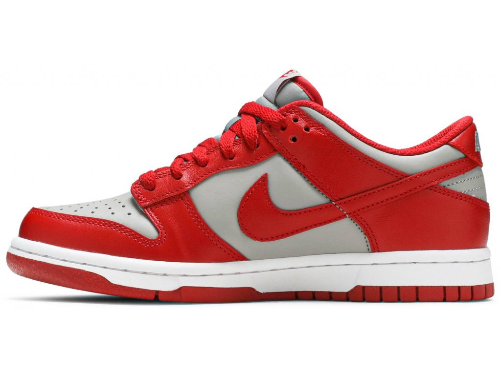 Nike Dunk Low Retro Medium Grey Varsity Red UNLV (GS) (Velikost 36)