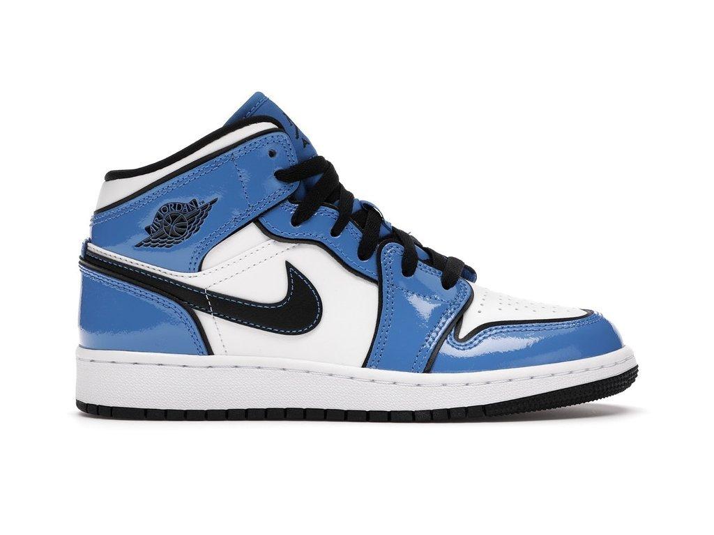 Jordan 1 Mid Signal Blue (GS) (Velikost 38)