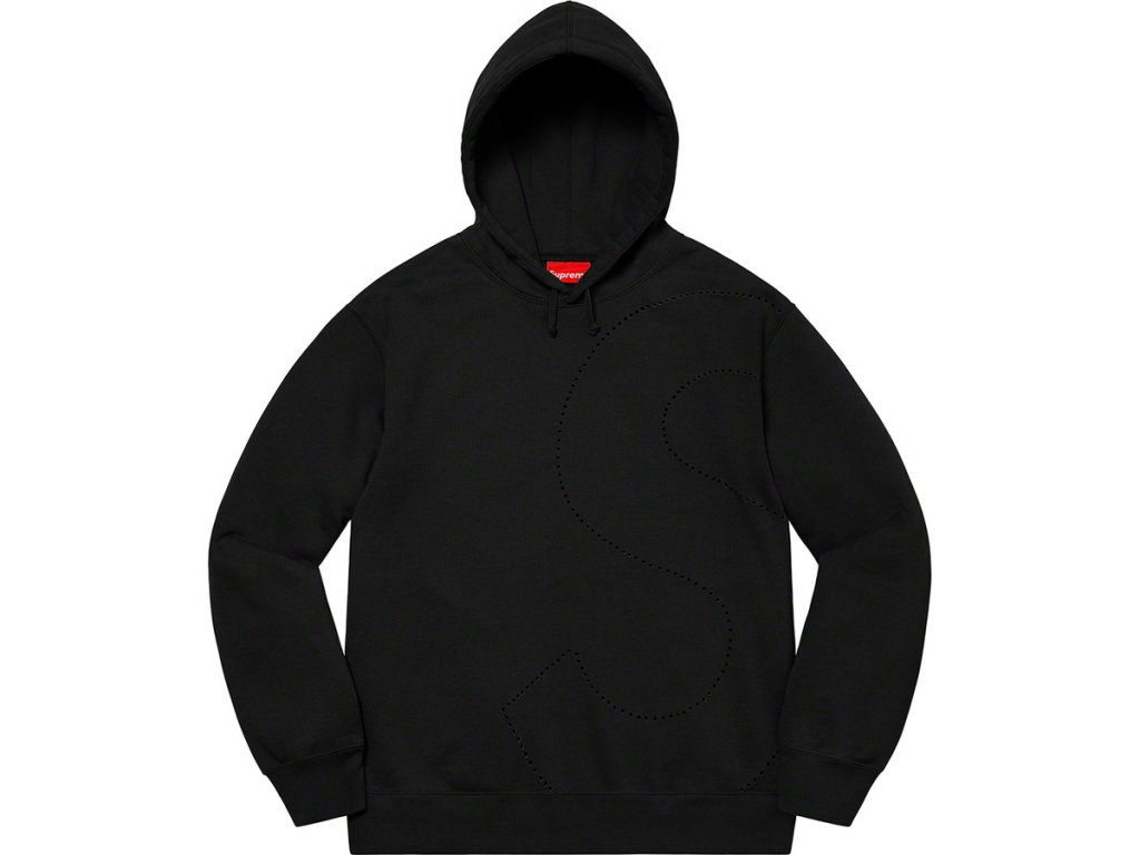 Supreme Laser Cut S Logo Hoodie Black