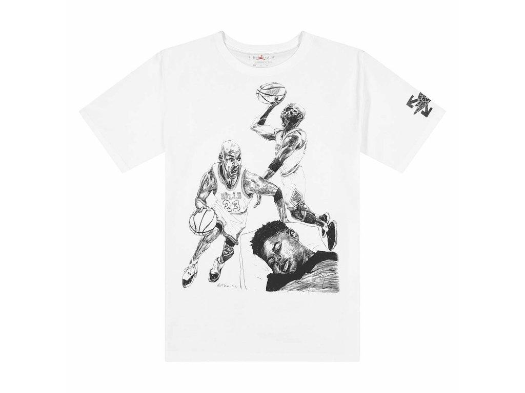 jordan M J Off White T Shirt White 1