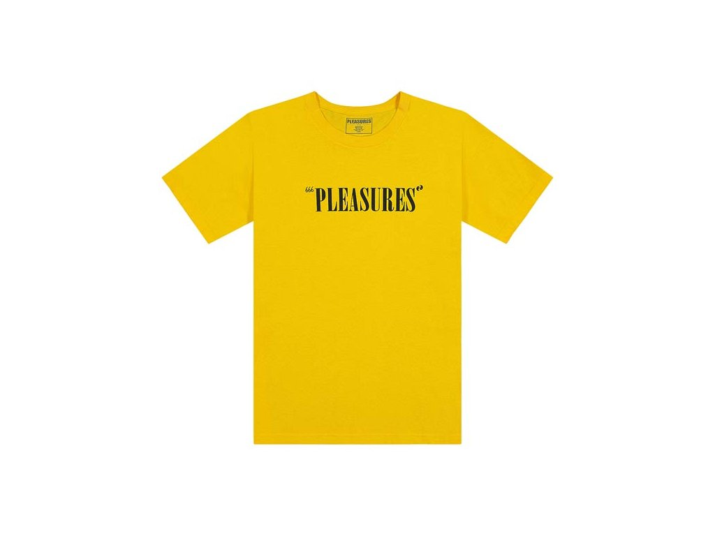 Pleasures Balance Logo T Shirt YELLOW 1
