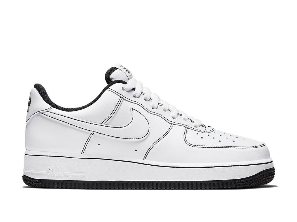 nike air force 1 white black stitch