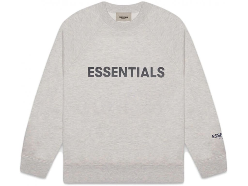 FEAR OF GOD ESSENTIALS 3D Silicon Applique Crewneck Heather Oatmeal result