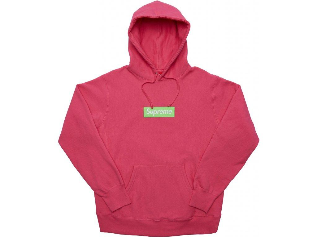 Supreme Box Logo Hooded Sweatshirt Magenta FW17 result