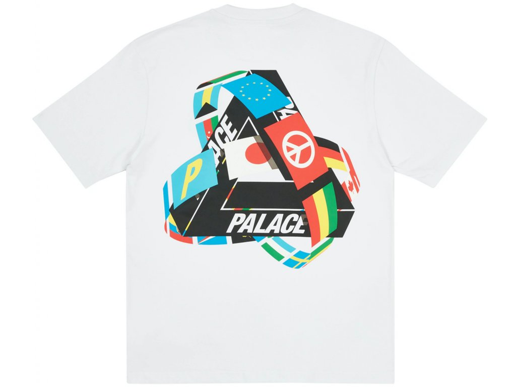 Palace Tri Flag T Shirt White result
