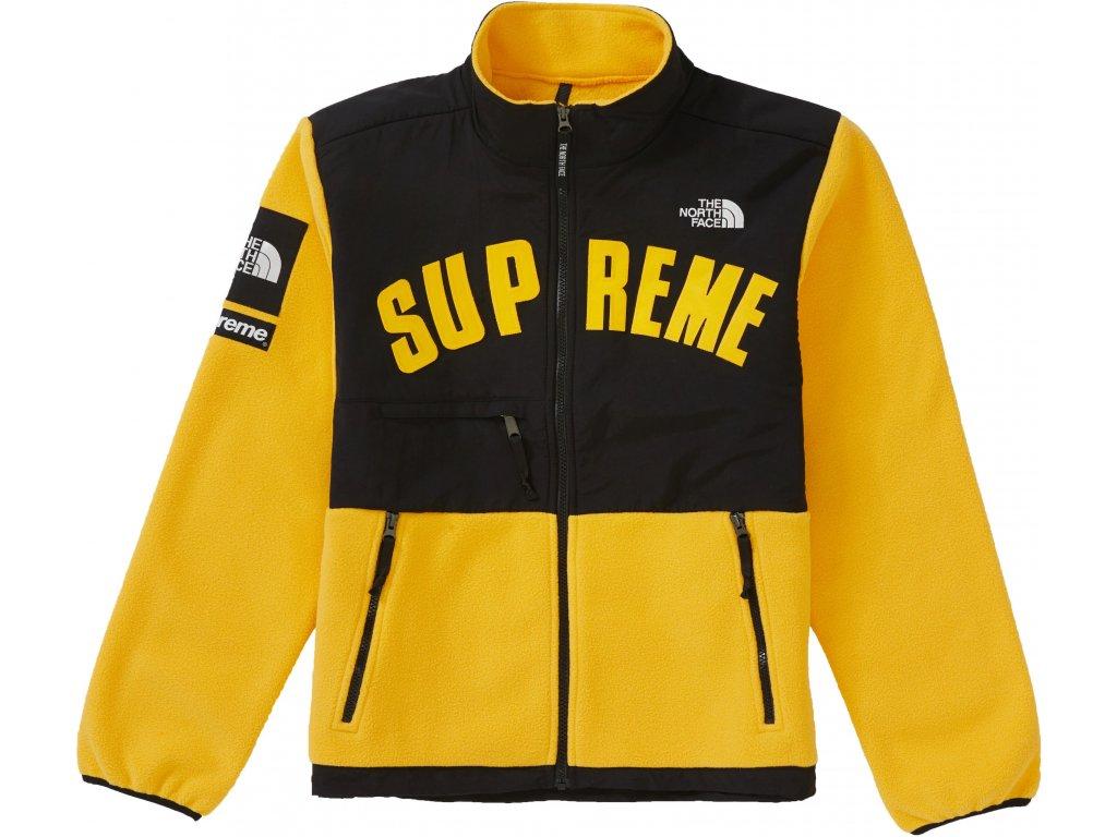 Supreme The North Face Arc Logo Denali Fleece Jacket Yellow result