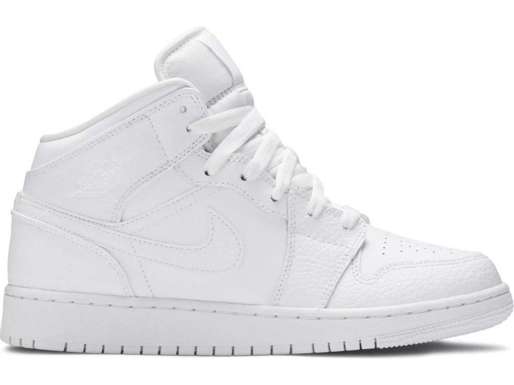 Jordan 1 Mid White (GS)