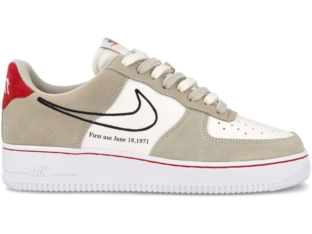 nike air force 1 low first use light sail red