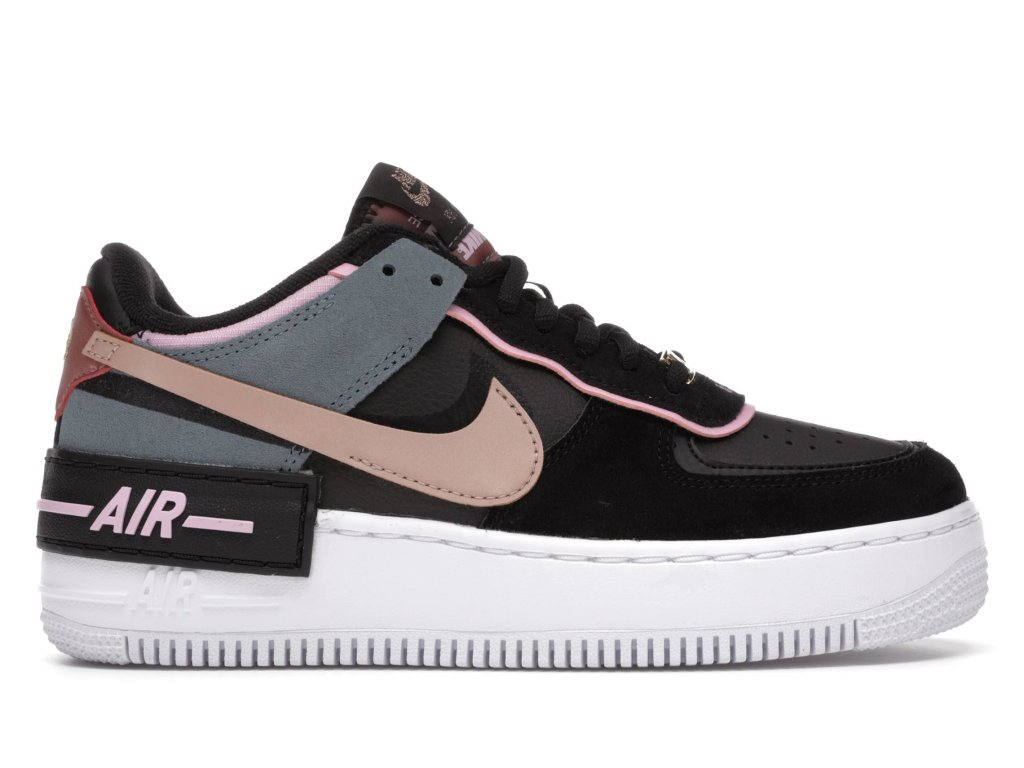 Air Force 1 Shadow Black Light Arctic Pink Claystone Red (W)