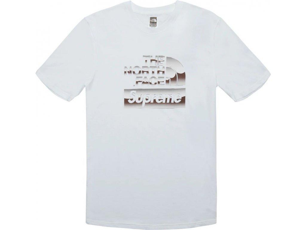 Supreme The North Face Metallic Logo T Shirt White result