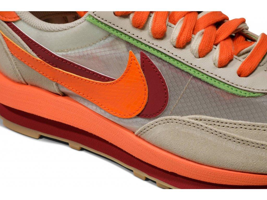 Nike LD Waffle sacai CLOT Net Orange Blaze