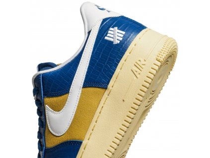 Air Force 1 Low SP Undefeated 5 On It Blue Yellow Croc