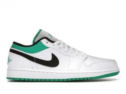 Jordan 1 Low White Lucky Green Black