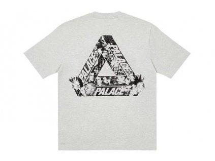 Palace Tri Heads T shirt Grey Marl result