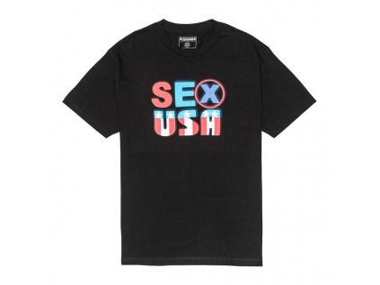 Pleasures Sex USA T Shirt Black 1