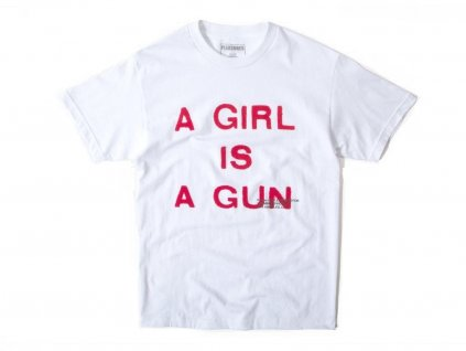 Pleasures A Girl Is a Gun Tee White (Velikost L)