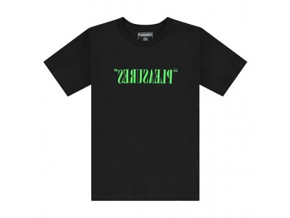 Pleasures Flipped Logo T Shirt Black 1