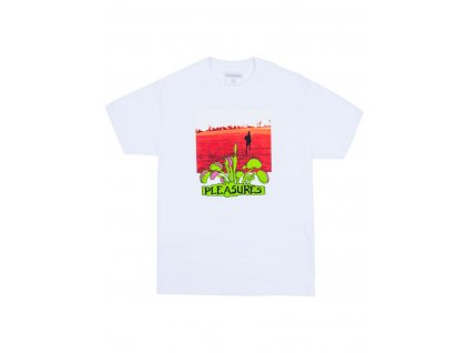 pleasures trapped t shirt white 01