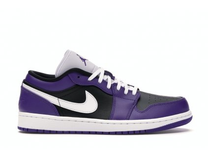 Jordan 1 Low Court Purple Black (Velikost 44)