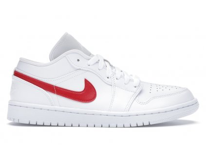 Jordan 1 Low White University Red (W) (Velikost 35.5)
