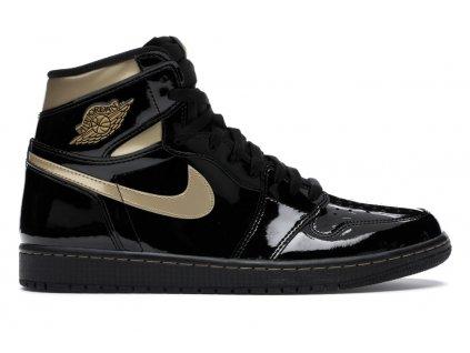 Air Jordan Retro 1 High Black Metallic Gold (Velikost 38)