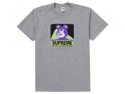 Supreme Bear Tee Heather Grey