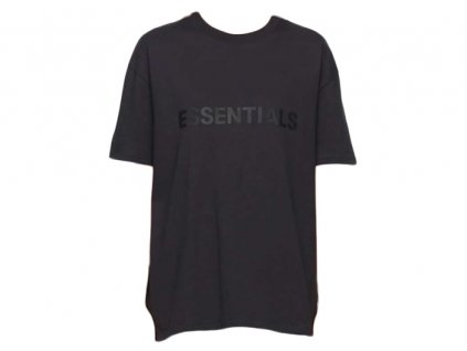 fear of god essentials x ssense 3d silicon applique boxy t shirt dark navy